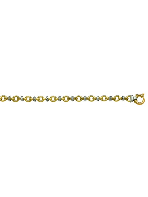 Collier Or bicolore 375 millièmes 45 cm